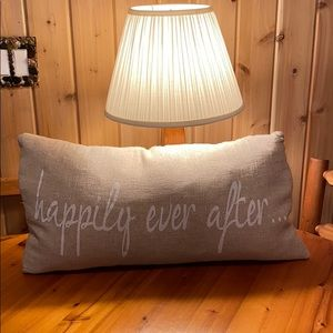 """""""Happily Ever After.."""" 27""""x15"""" Down Feather Pillow"""